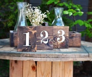 Weathered Grey Set Of 20 Rustic Double Sided Table Numbers Rustic Table Decor Reclaimed Wood Tableware