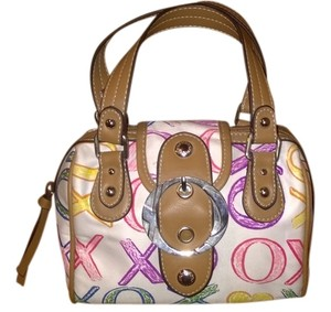 XOXO Leather Silver Hardware Satin Pink Satchel in Multi-Colored
