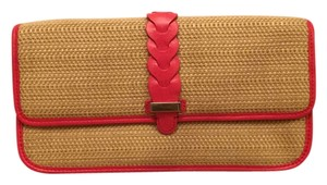 Cole Haan Straw Natural Clutch