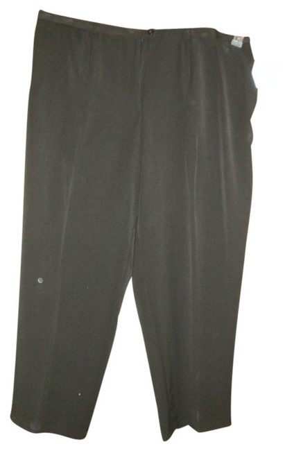 Sag Harbor Black Dress Comfortable Washable Easy Care Trouser Pants BLACK, BROWN