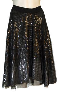 Rozae Nichols Skirt black w/ clear sequins