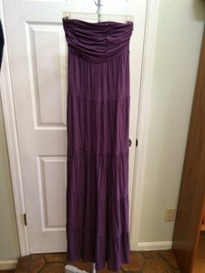 purple Maxi Dress by Guess Eggplant Strapless Maxi Maxi Classy Fun Sexy Los Angeles Sun Date Night Maxi Summer Spring Sun 70's Cool Cotton