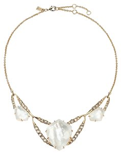 Alexis Bittar Alexis Bittar Geometric Bib w/ Fancy Cut Crystal MOP Doublet Necklace