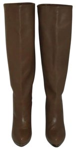 Devi Kroell Knee High Leather Tan Boots