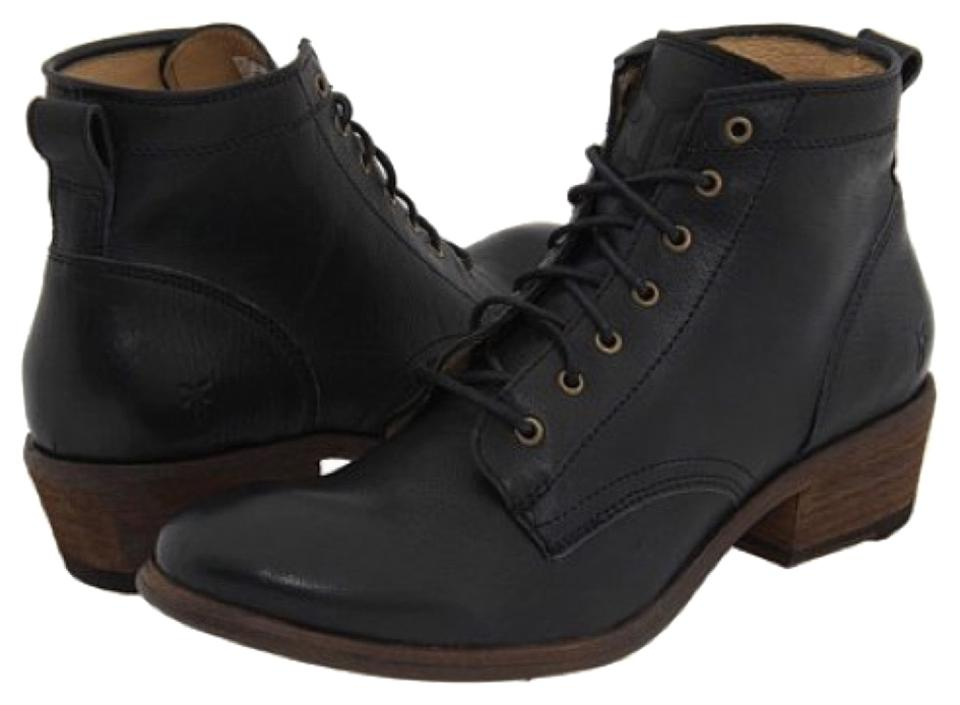 8cf27554046 Frye Black Carson Lace-up Boots/Booties Size US 6.5 Regular (M, B) 53% off  retail