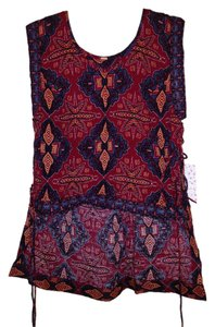 Free People Top Crimson Combo
