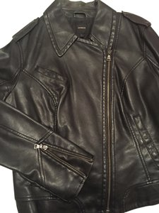 Express Leather Black Jacket