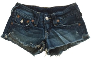 True Religion Cut Off Shorts Denim