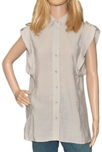BCBGMAXAZRIA Button Down Shirt Cloud Grey