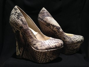 Wild Pair SNAKE PRINT Wedges