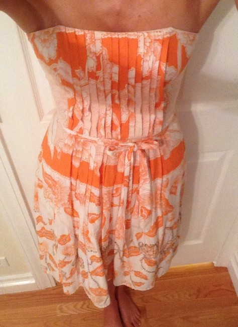 Laundry by Shelli Segal short dress White & Orange on Tradesy