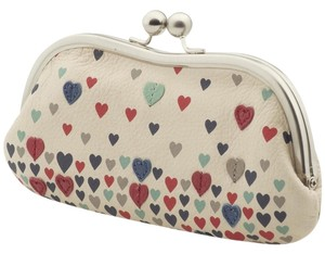 Fossil Bone Leather Leather Hearts Wallet creme Clutch