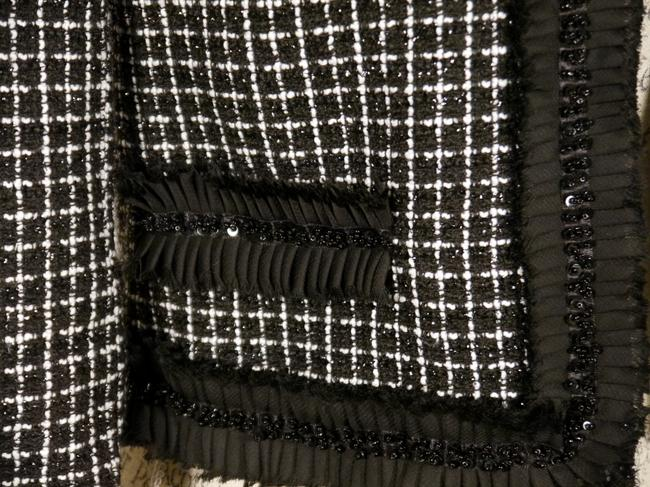 Forever 21 Forever Black and White Tweed Jacket with Embellished Trim Size SP: MSRP $44