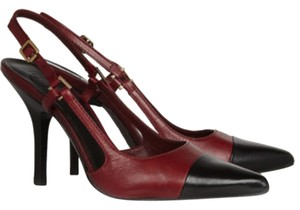 Tory Burch Felicity Burgundy/Black Pumps