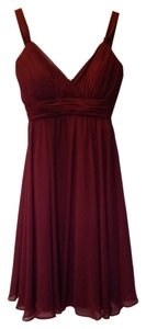 B2 Bridesmaid Formal Wine Knee Length Dress