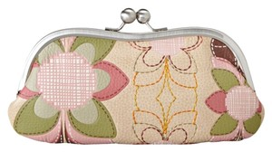 Fossil Leather beige Clutch