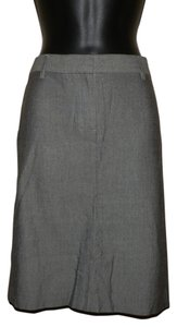 Theory Pencil Lightweight Faux Pockets Beltloops Skirt Gray