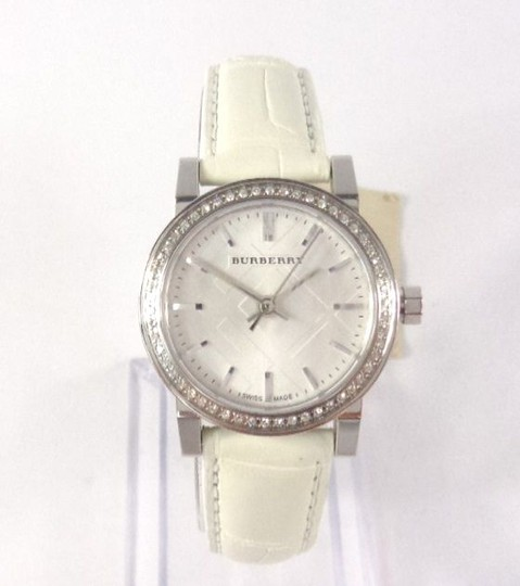 Burberry Burberry BU9221 Swiss 54 Diamonds Bezel Alligator White Watch $1,795 Image 1