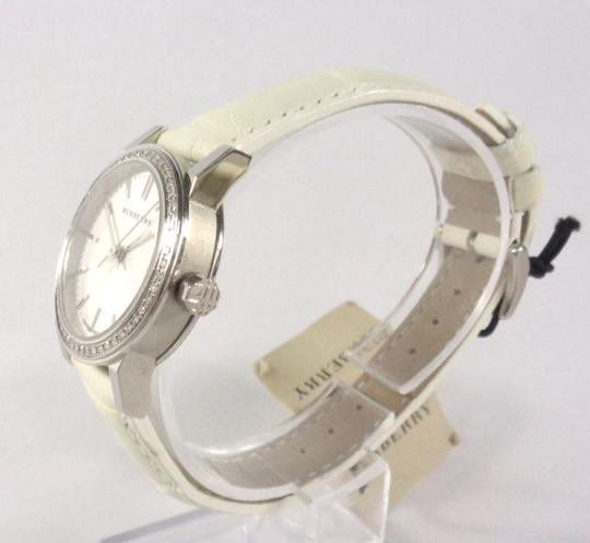 Burberry Burberry BU9221 Swiss 54 Diamonds Bezel Alligator White Watch $1,795 Image 2