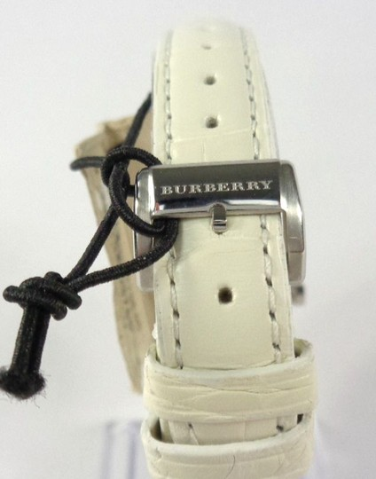 Burberry Burberry BU9221 Swiss 54 Diamonds Bezel Alligator White Watch $1,795 Image 4