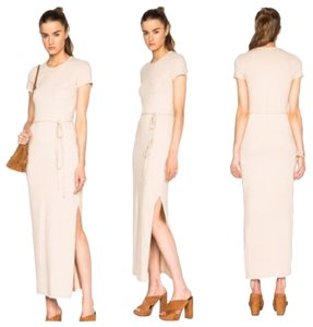 Beige Maxi Dress by James Perse Pocket Tee