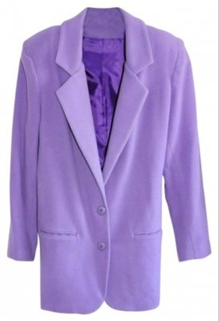 James River Traders Lavender Wool and Cashmere Suit Jacket