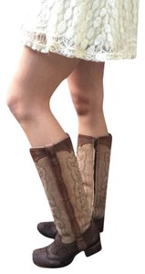 Corral Boots Leather Python Handcrafted New Box Included chocolate & sand Boots