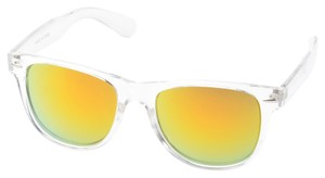 Urban Outfitters NEW Clear Frame Yellow/Green Wayfarer Polarized Mirror Sunglasses