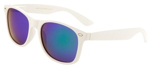 Glasses White Frame Blue/Green Polarized Wayfarer Sunglasses