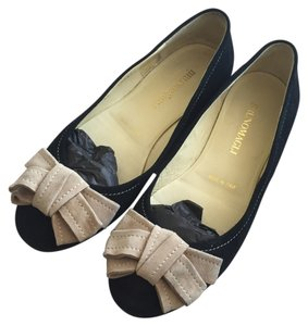Bruno Magli Bow Suede Brown Flat Flats