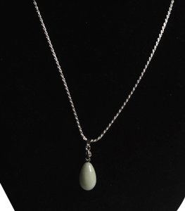 Sterling Silver Jade Gemstone Pendant Necklace N156