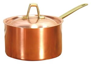 PAUL REVERE PAUL REVERE WARE-Vintage Gourmet Solid Copper Pot 1 Qt with LID Limited Edition Sauce Pan