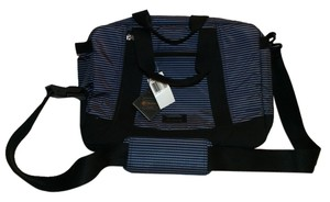 LeSportsac Briefcase Laptop Messanger Work Striped Blue, Black Messenger Bag