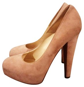 Brian Atwood Pink Blush Suede Pumps
