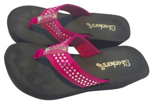 Sketchers Fushia wedge sandals Fushia pink Sandals