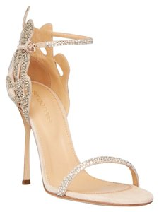 Sergio Rossi Swarovski Crystal Open Toe Sandals Wedding Shoes