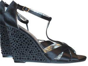 Kenneth Cole Reaction Stunning Black w/ Black Rhinestones Sandals