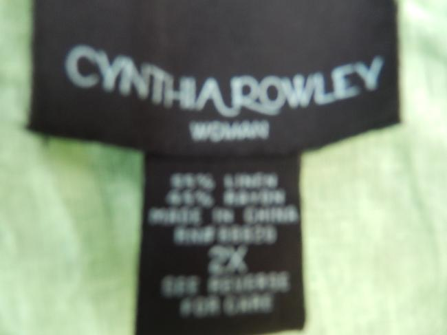 Cynthia Rowley New Woman 2x Embroidered Linen Blend Tunic