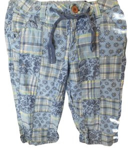 Limited Too Preppy Pants Shorts 12 Xs 0 Capris Blue Patchwork