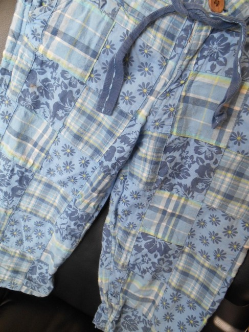 Limited Too Preppy Pants Shorts 12 Xs Capris Blue Patchwork