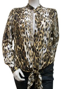 Fifteen Twenty Silk Top Leopard