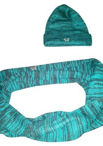PINK Pink victoria's secret teal infinity scarf & beanie