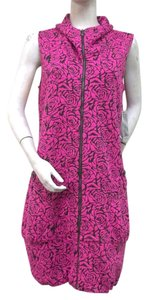 Samuel Dong short dress Pink Black Jacquard Knit on Tradesy