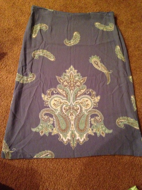 Old Navy Skirt Blue With Paisley