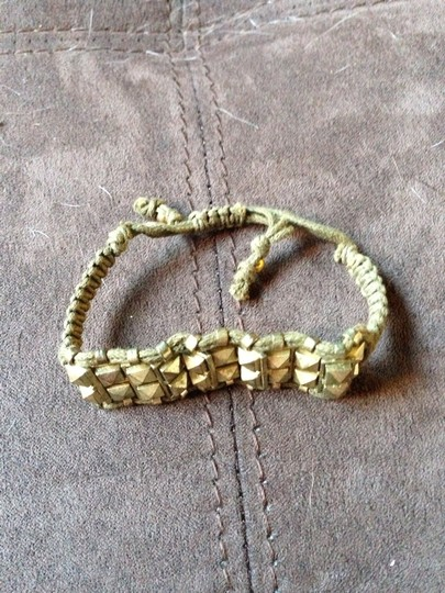 Other Army Green And Gold Bracelet
