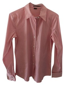 Theory Top Pink with white and black strips