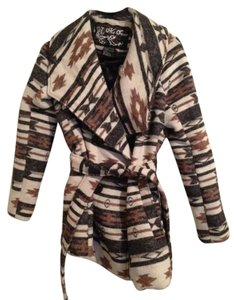 Me Jane Tribal Aztec Winter Jacket Trendy Pea Coat