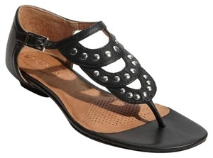 Ballasox by Corso Como Leather Sandal Thong Sandal Black Flats