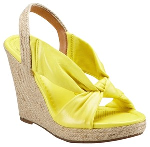 Ballasox by Corso Como Leather Wedge Espadrille Sunshine Wedges