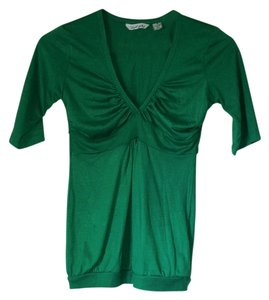 Derek Heart Shirt Size Small V-neck Short Sleeve V-neck Short Sleeve Size Small Top Green